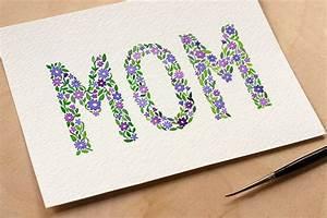 DIY: Watercolor Mother's Day Card + Printable | Watercolor ...