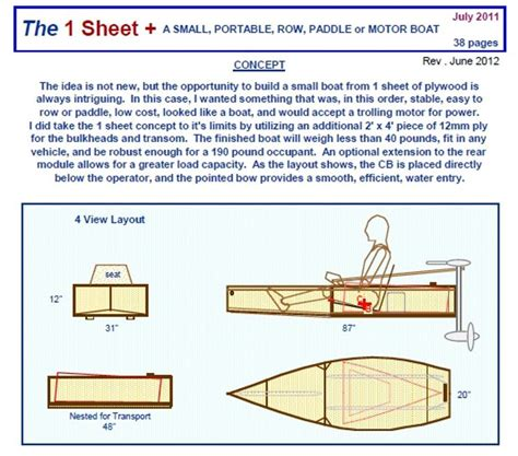 Small Boat Making by Portable Boat Plans