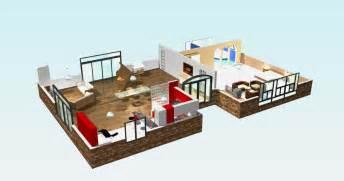 plan 3d villa moderne