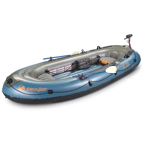 Inflatable Boats On Ebay by Inflatable Boat Sevylor Fish Hunter 360 6 Person Motor