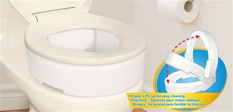 rehausseurs pour toilette avec charni 232 re par aquasense 174 aquasense 174