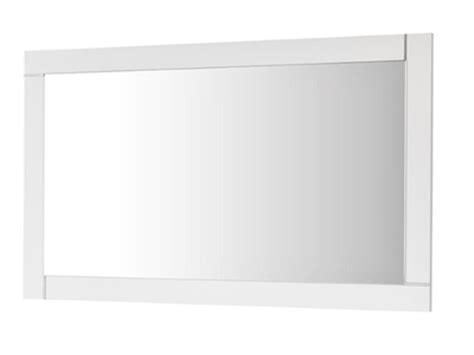 miroir avec cadre blanc laque