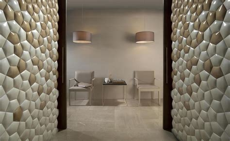 Wall Cover : Ceramic Wall Covering Inspired By Mathematics Patterns In