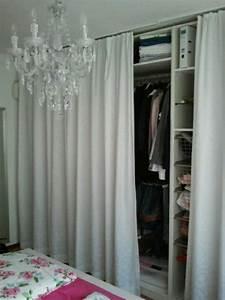 Schalldämmende Vorhänge Ikea : kleiderschrank pax mit vorhang anstatt t ren garderobenideen pinterest vorh nge ~ Markanthonyermac.com Haus und Dekorationen