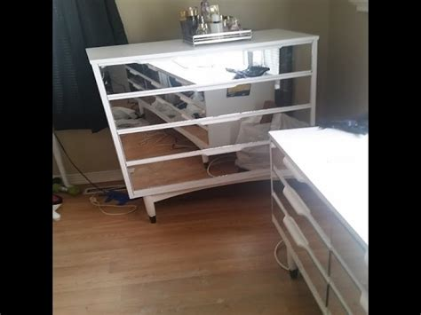 Diy Mirrored Dresser Set Makeover Workbench Drawer Kit Garage With Drawers 4 Lateral File Cabinets Guest Bed Front Brackets Wide Low Chest Of Beech Ikea White 3 Filing Cabinet