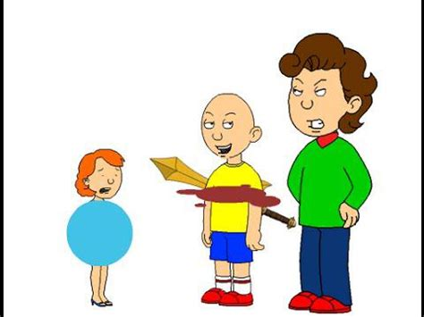caillou sprays liquid in rosie s room grounded