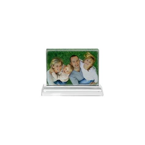 cube verre personnalisable photo