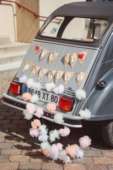 d 233 coration voiture mariage just married wedding mariage wedding and wedding cars