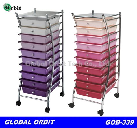 Colorful 4 Tier Plastic Storage Trolley With Drawers,Space Saving Storage Cabinet   Buy Trolley