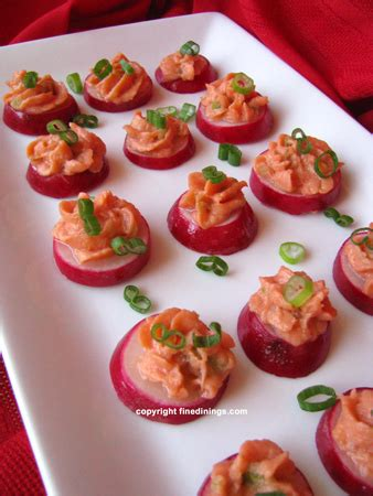radish canapes with smoked salmon mousse dining recipe how to make smoked salmon mousse