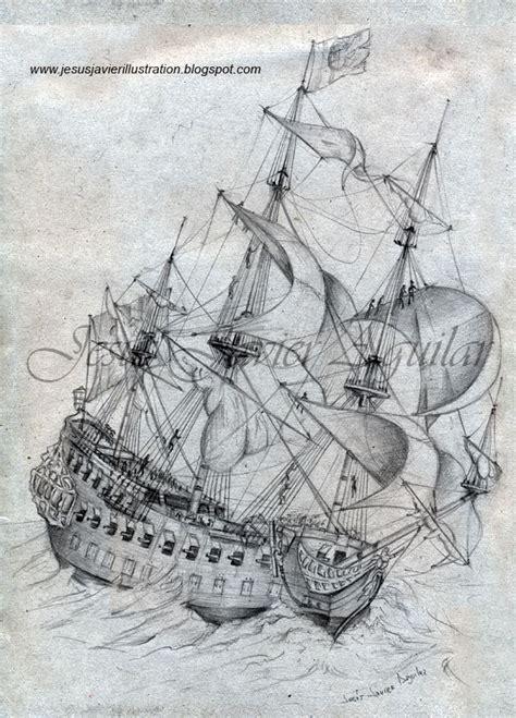 Dibujo Barco En Tormenta by Ilustraciones Y Pinturas De Jes 250 S Javier Aguilar Gallego