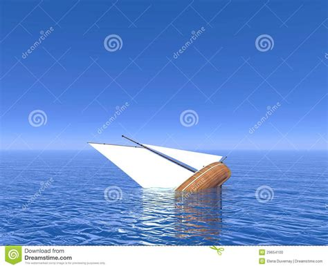 Dream Of Your Boat Sinking by Sinking Boat 3d Render Stock Photo Image 29654100