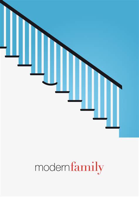 modern family tv show minimal poster on behance