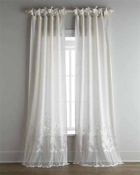 pom pom at home each caprice tie top curtain