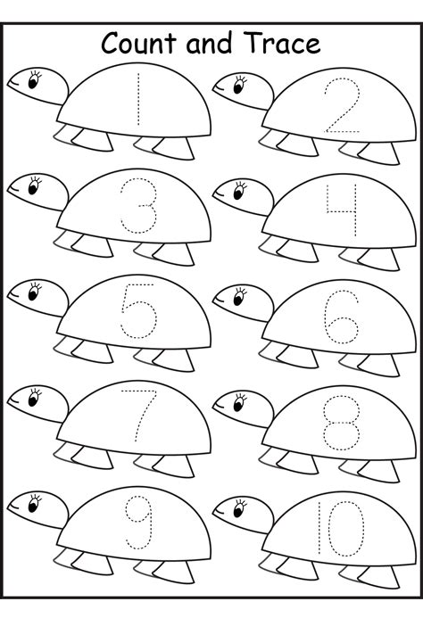 Pre K Worksheets Number  Activity Shelter