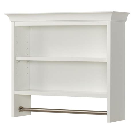 home decorators collection creeley 7 1 20 in l 20 1 2 in h x 24 in w wall mount 2 tier