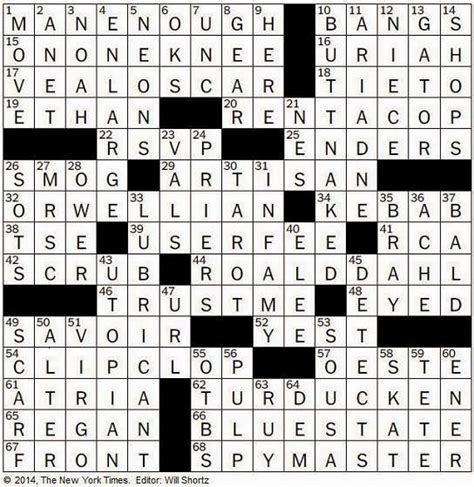 the new york times crossword in 08 02 14 the