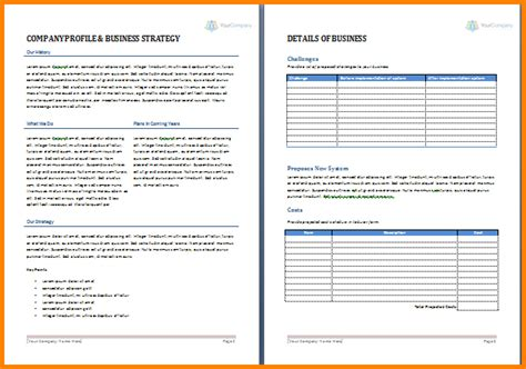 Business Proposal Template Word Free