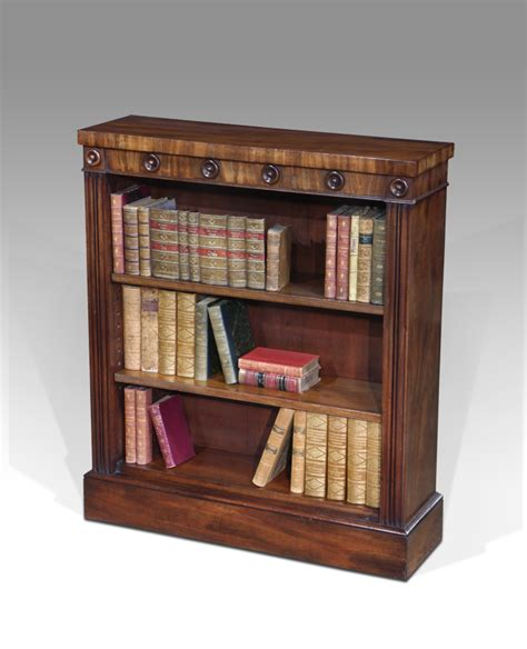Small Antique Bookcase, Georgian Dwarf Bookcase, Mahogany