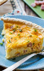 Easy Ham and Cheese Quiche - Spicy Southern Kitchen