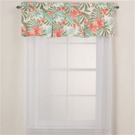 j new york pompano tropical window valance contemporary curtains by bed bath beyond