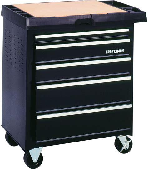 craftsman 5 drawer rolling tool box chest portable tool organizer garage shop ebay