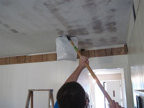 removing popcorn ceiling project freshen up