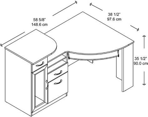 bush hm66315 03 corner desk vantage collection 2 box
