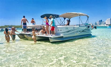 Party Boat Miami Rental by 22ft Luxury Party Pontoon Rental In Miami Beach Florida