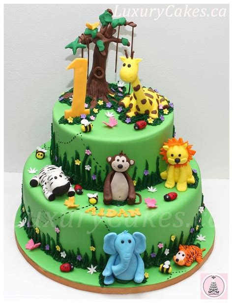jungle theme cake jungle animal cake ideas jungle