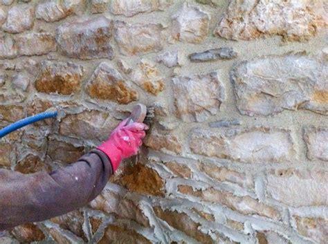 nettoyer un mur extrieur brosse perceuse nettoyage pierres naturelles maison with nettoyer un