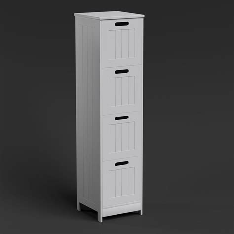 free standing wall white bathroom storage cabinet unit shelf shelving ebay