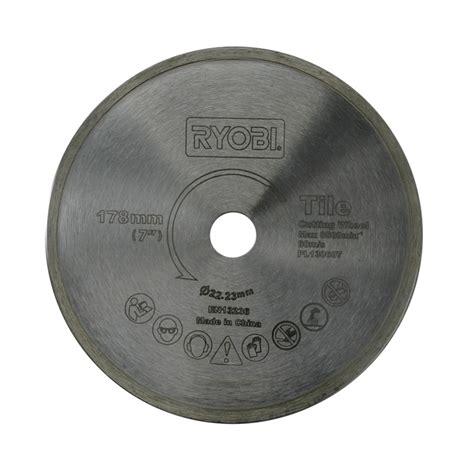 ryobi 178mm tile saw blade bunnings warehouse