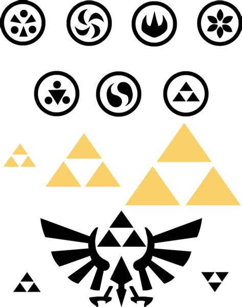 Zelda Pumpkin Stencil by Sage Symbols And The Triforce By Snowbunnystudios On