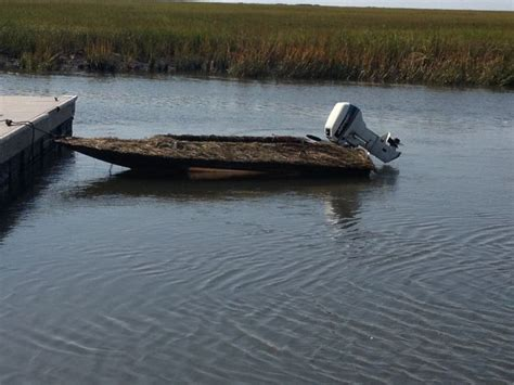 Duck Hunting Boat Death by My 11 Roy Schellinger Duck Boat Waterfowl Hunting