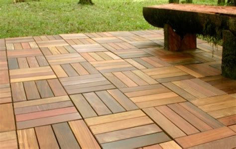 teak patio flooring with area images