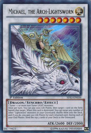michael the arch lightsworn sdli en036 ultra structure deck realm of light 1st