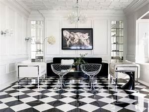 Schwarz Weiß Kontrast : fliesen im schachbrettmuster 31 ideen f r passende deko ~ Markanthonyermac.com Haus und Dekorationen