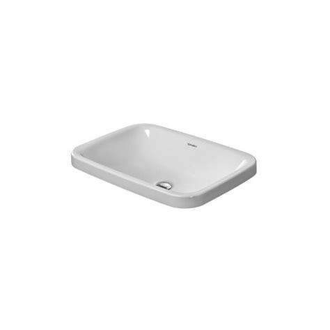 vasque 224 encastrer par le dessus durastyle 037260 duravit