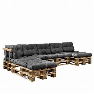 Bauanleitung Paletten Sofa : euro paletten sofa auflage 4x sitz 6x real ~ Markanthonyermac.com Haus und Dekorationen