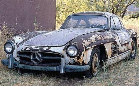 barn finds cars mercedes 300sl barn find rusted classics barn finds