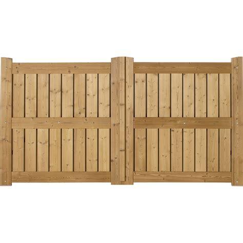 portail battant en bois le porge l 350cm couleur naturel leroy merlin