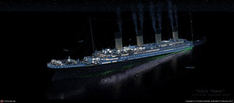 Titanic Sinking Animation 3d by S O S Titanic By Christian Stenfelt 3d Cgsociety
