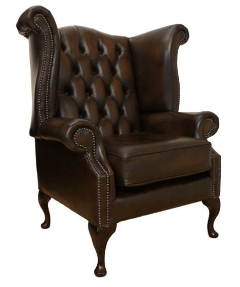 Back Chair Uk by Chesterfield High Back Wing Chair Antique Brown
