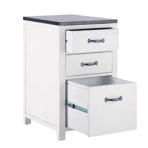 meuble bas de cuisine en bois recycl 233 blanc l 50 cm ostende maisons du monde
