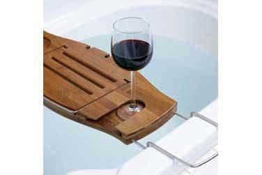 bamboo bathtub caddy with reading rack bamboo bath caddy with reading rack