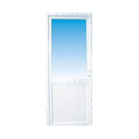 porte de service pvc 1 2 vitr 233 e droite 205 x 90 cm materiauxnet