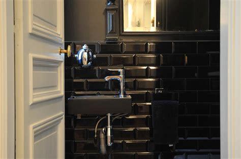 carrelage metro noir et blanc maison design bahbe