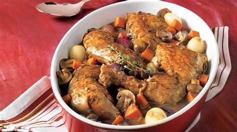 coq au vin recettes iga poulet vin recette facile