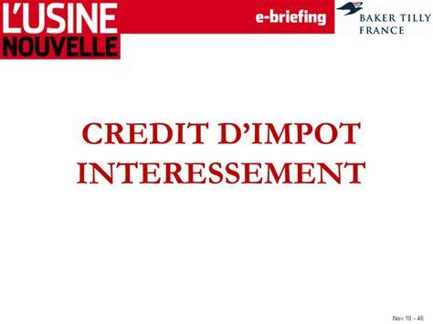 credit impot interessement energies naturels